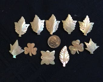 Lot of 11 Mother of Pearl Jewelry Finding