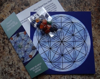 Inspire Creativity * Little Grid Kit Meditation Affirmation Gemstone Kit