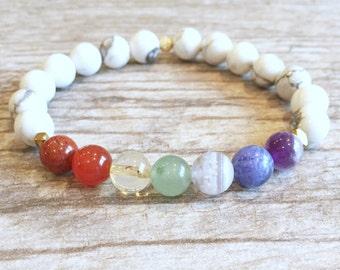 7 Chakra Bracelet - Yoga Bracelet - Yoga Jewelry - Healing Jewelry - Energy Bracelet - Mala Beaded Bracelet - Meditation Bracelet - Stretch