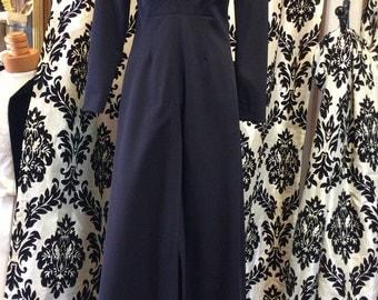 Beautiful Black 70s Maxi Dress