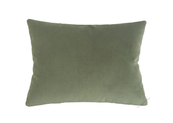 Sage Green Velvet Suede Decorative Throw Pillow Cover / Pillow