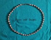 Cherokee Tears Seed Bead and Polished Tigers Eye Beaded Necklace - Tribal - Jobs Tears - Gift - Elusive Wolf