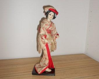 Vintage Replica  Japanese Geisha Doll