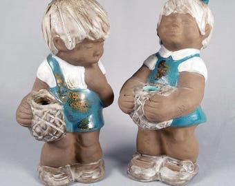 Large Vintage Swedish Pottery Figurines, Lisa Larson, Elbogen, JIE Gantofta, era
