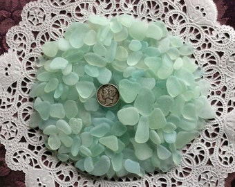 FREE Shipping 6 oz. Rough Sea Foam Pale Blue Sea Glass  RSF-F8-Q