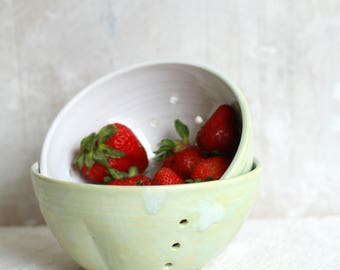 Berry Bowl, Colander, Ceramic Colander