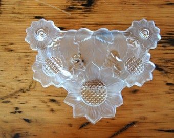 Stunning Vintage Large Glass Drawer Pull Vintage Large Sunflower Glass Drawer Pull Drawer Hardware Floral Pull from The Eclectic Interior