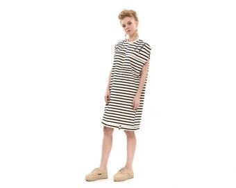 Stripes Sweatshirt Dress, Fashion Trends 2017, everyday dress, Hoodie Dress, cool dress, zippers