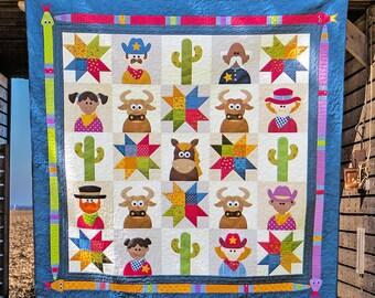 THE WILD WEST | pdf Quilt Pattern | Patterns | Quilts | Cowboy Quilt | Cowboys | Applique Quilts | Happy Quilts | Kids Quilts | Wild West