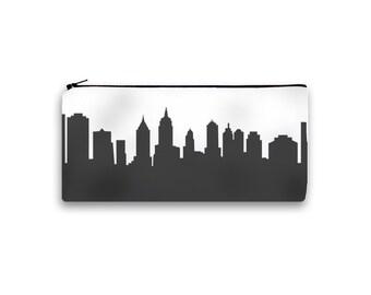 New York City Clutch Purse - 4x9 - Skyline Silhouette - Pencil Pouch