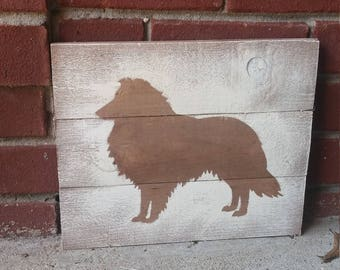 Collie Silhouette, Collie picture, Gift for mom, Border Collie home decor, Dog lover gift, Collie gift, House warming gift, Christmas Gift