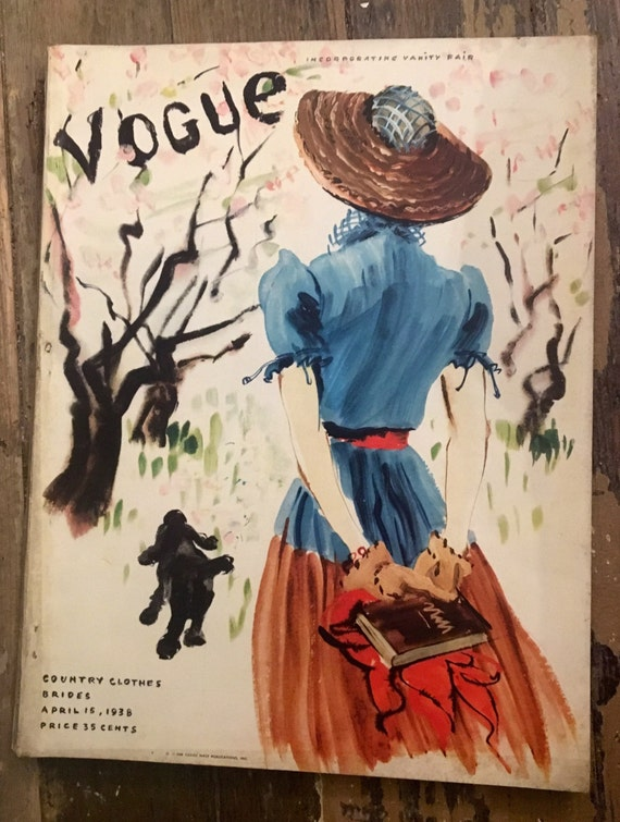Vintage Vogue Magazine April 15, 1938 Edition