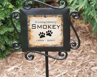 Personalized Pet Memorial Garden Stake Loss of Dog or Cat Sympathy Gift