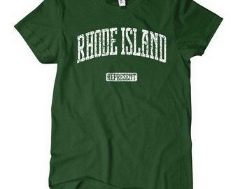 Women's Rhode Island Represent T-shirt - S M L XL 2x - Ladies' Tee, Gift for Her, Rhode Island Shirt, Providence Shirt, Warwick, Cranston