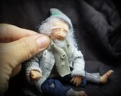 OOak miniature homeless man for Dollhouse 1:12 scale