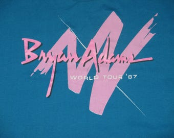 Rare NOS Vintage 1987 Bryan Adams Tour Belly T Shirt