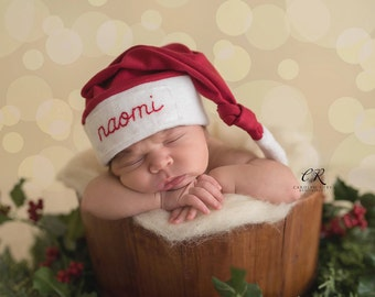 newborn christmas outfit- baby personalized gifts -Personalized Santa hat- newborn christmas - baby Christmas- Santa outfit