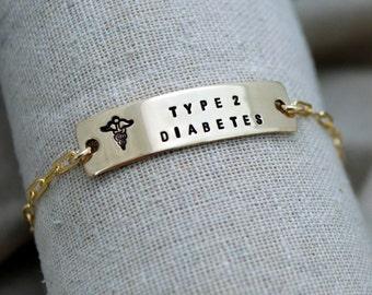 Classic Medical ID Bracelet - Customize - Hand Stamped - Epilepsy - Diabetes