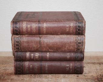 Vintage Book Set Home Decor Antique Books