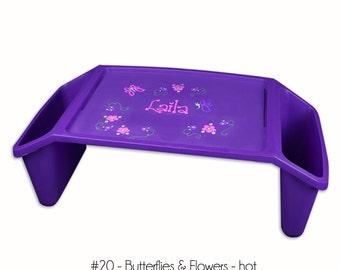 lap trays girls plastic lap tray lap purple laptray desk customized laptrays w hand painted