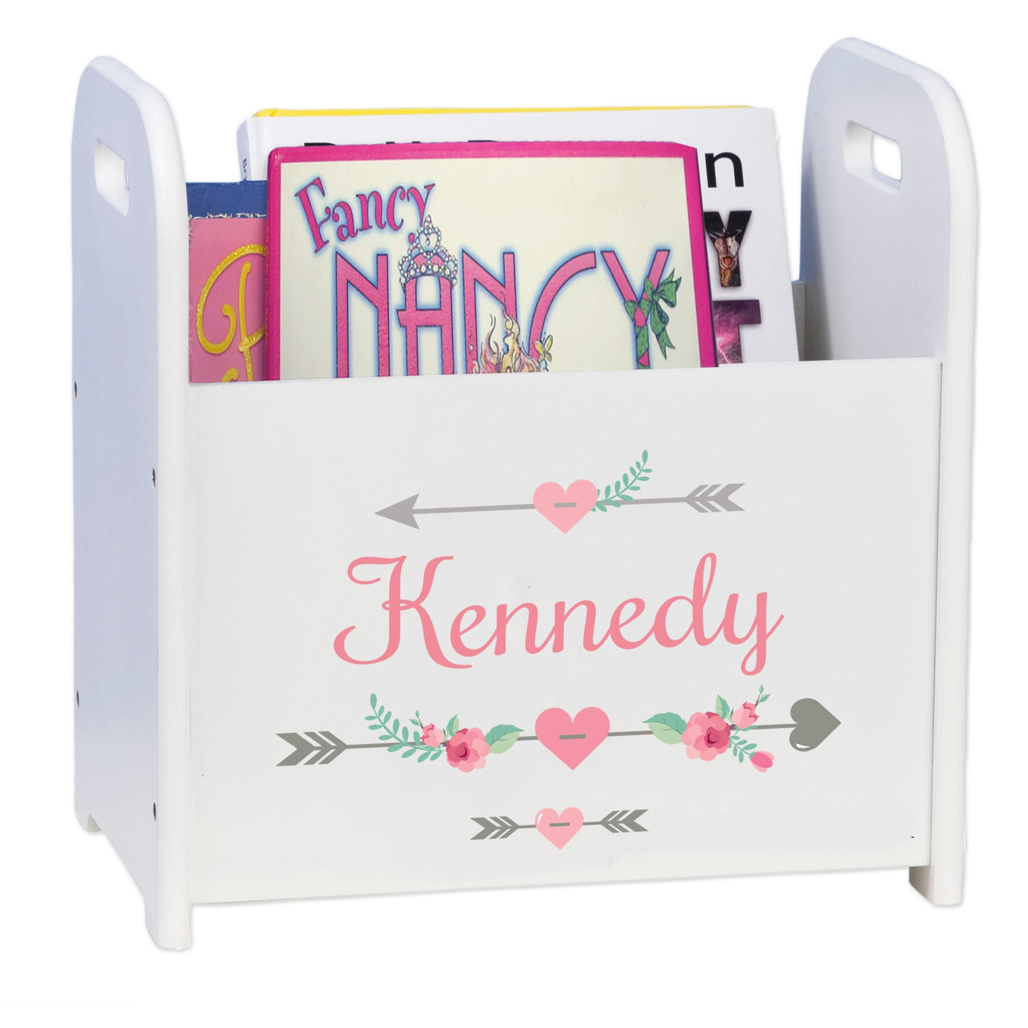 personalized arrow baby t monogrammed book holder magazine