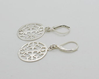 Sterling Silver Leverback Earrings S15