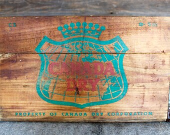 Canada Dry Vintage Wooden Crate