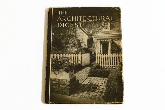 vintage architectural digest magazine ad 1940s interior design