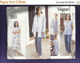 15% OFF SPRING SALE Vogue 1610 Stylish Casual Wear Tee Shirt Dress Skirt Pants Jacket & Top Sizes 20-22-24