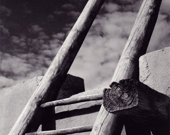 """Ladder to the Sky, """"City in the Sky"""" Acoma Pueblo Healing Lodge"""