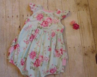 Baby Girl's Ruffle Flutter sleeve Romper Sunsuit Summer Spring