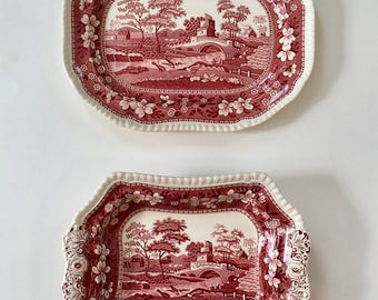 Vintage Set of 2 Spode Serving Platters, Serving Dishes