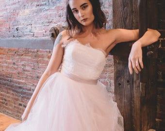 Wedding Separates - Lace Corset - Charlotte Corset - Lace Wedding Dress - Lace Up Wedding Dress - Backless Wedding Dress