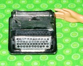 Mattel Barbie Vintage Black Silver Typewriter Accessory-Vintage Barbie Typewriter-Vintage Barbie Doll Accessory-1960's Barbie Typewriter