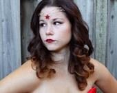 ruby star jewel forehead tiara