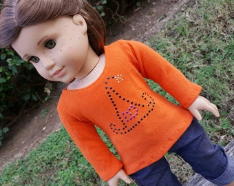 Halloween Witch Hat Long sleeved Tee for American Girl Dolls