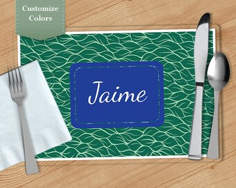 Leaves -  Personalized Placemat, Customized Placemats, Custom Placemat, Personalized Gift