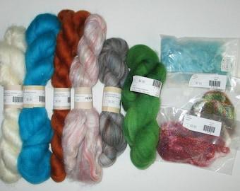 Wool Roving Mixed Lot