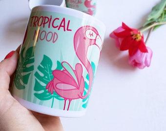 Tropical Mood - Tazza dedicata agli amanti dei fenicotteri