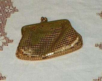 Vintage Whiting and Davis PURSE Coin Mesh bag metal