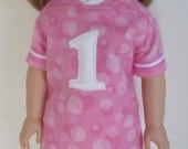 Football Jersey Pajama Top and Pajama Pants for 14.5 Inch Dolls  Pajamas fit Wellie Wishers™