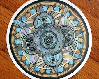 "Asibikaashi Dreamcatcher Mandala 5"" Vinyl Sticker"