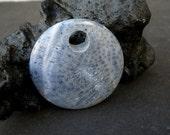 Natural Blue Coral 40mm Agogo Pendants - Liquidation / Close Out Prices 1 - 3 Pieces.