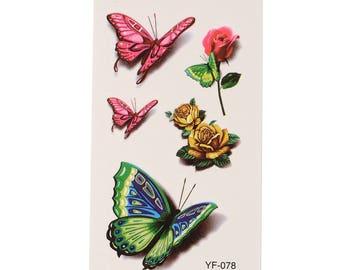 Butterfly Tattoo Sheet - 1 Pc
