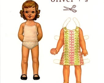 Seashore Sundress Pattern / Dress Pattern / Button Straps / Princess Seams / Side Seam Pockets / Dropped Waist / Oliver + S