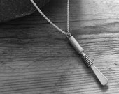 "Solid silver oboe reed pendant on an 18"" silver chain"