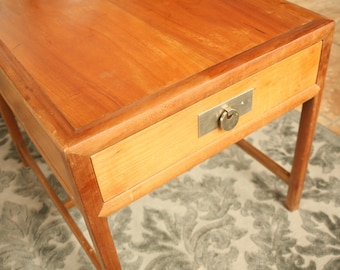 Clean Lined Nightstand Or End Table By Michael Taylor For Baker, High End  Furniture,