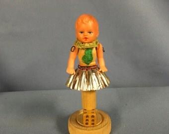 Vintage art doll assemblage eclectic 3-D sculpture