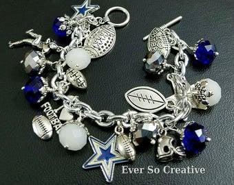 Dallas Cowboys Inspired Charm Bracelet