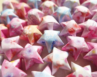 Flower And Love Mixed Origami Lucky Stars-Floral Wishing Stars/Party Supply/Home Decor/Gift Fillers/Embellishment